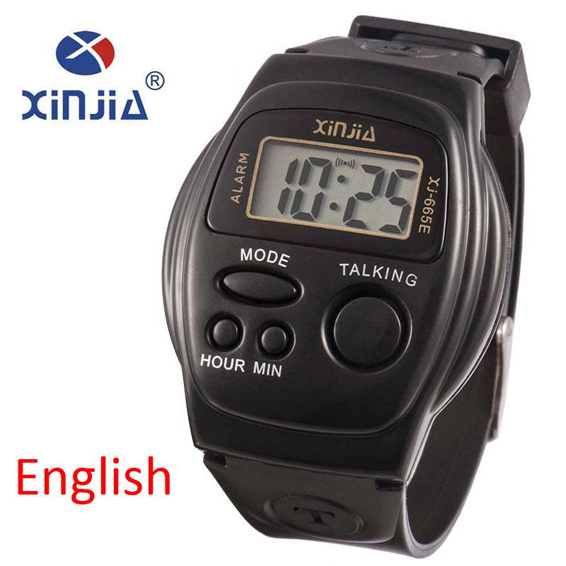 New Simple Old Men And Women Talking Watch Speak English Blind Electronic Digital Sports WristWatches For The ElderNew Simple Old Men And Women Talking Watch Speak English Blind Electronic Digital Sports WristWatches For The Elder