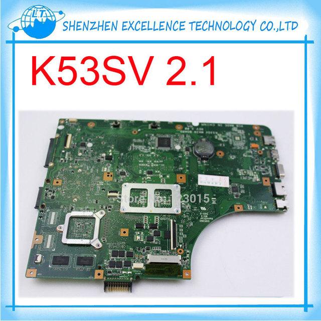 K53sv 1g 8 unids de almacenamiento placa madre del ordenador portátil para asus k53sv rev 2.1 gt540 completamente prueba antes del envío