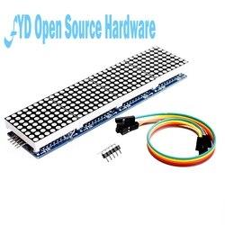 MAX7219 матричный модуль микроконтроллер 4 в одном дисплее с линией 5P