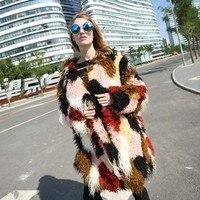 Fur Vest Top Fashion Faux Fur Blends Rabbit Fur Europe And The 2017 Autumn Winter New Fur Lapel, Long Plush Coat, Lady Coat