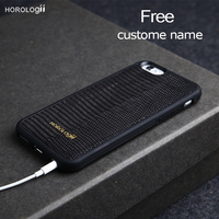 Luxury Lizard Skin Pattern Phone Case For Iphone 6 6s 7plus SE Italian Genuine Leather Cell