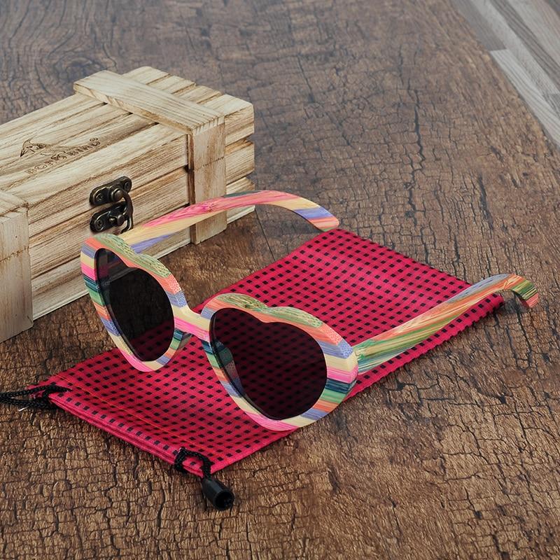 da730acdf525e BOBO BIRD Brand Unique Design Heart shaped Wood Sunglasses Women Fashion Sun  glasses Ladies Memento Gift Dropshipping C BG019-in Sunglasses from Apparel  ...