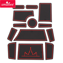 smabee Gate slot pad Interior Door Pad/Cup For LADA PRIORA VAZ 2013-2018 mats red/blue/white mats handle cpr azard vaz 2113 15 frame vinyl red kpp00030