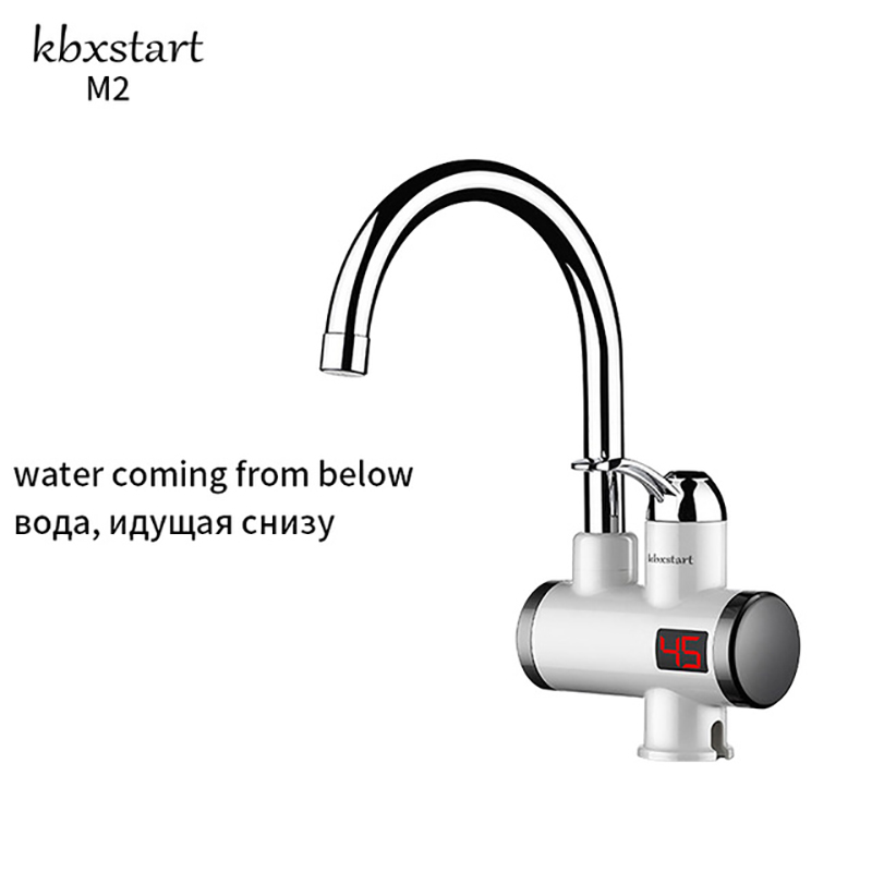 220V Electric Water Heater Faucet Tankless Water Heater Hot Boiler Water Electric Heating Tap Element Kitchen Tap