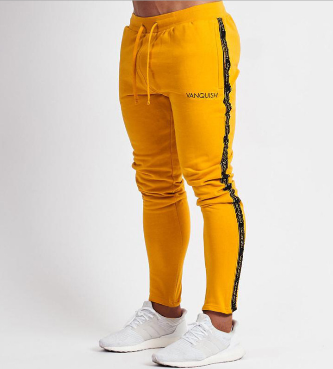 Sports-Pants Stitching Joggers Streetwear Hip-Hop Summer Men's Pure-Cotton New Tide