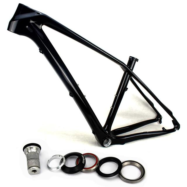 650B bike frame carbon fiber MTB 27.5er Glossy mountain carbon bikes ...