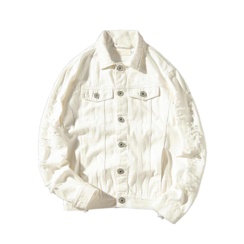 2019 chaqueta de mezclilla Para Hombre primavera moda Otoño agujero Hip Hop chaquetas de vaquero ropa de calle Casacas Para Hombre