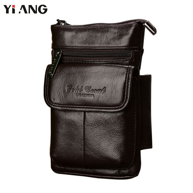 YIANG Genuine Leather Bag Men Bags Male Shoulder Crossbody Bags Messenger Flap Casual Single Strap Business Bag HOT SALE mva genuine leather men s messenger bag men bag leather male flap small zipper casual shoulder crossbody bags for men bolsas
