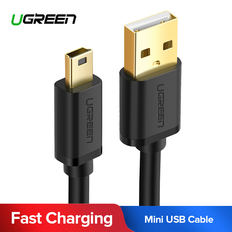 1m Long MINI USB Cable Sync /& Charge Lead Type A to 5 Pin B Phone Charger JSN