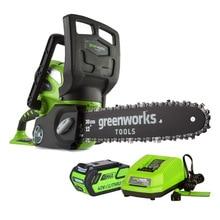 Пила цепная аккумуляторная Greenworks G40CS30 40V (Длина лезвия 300мм, 60 минут автономной работы, автоматическая смазка