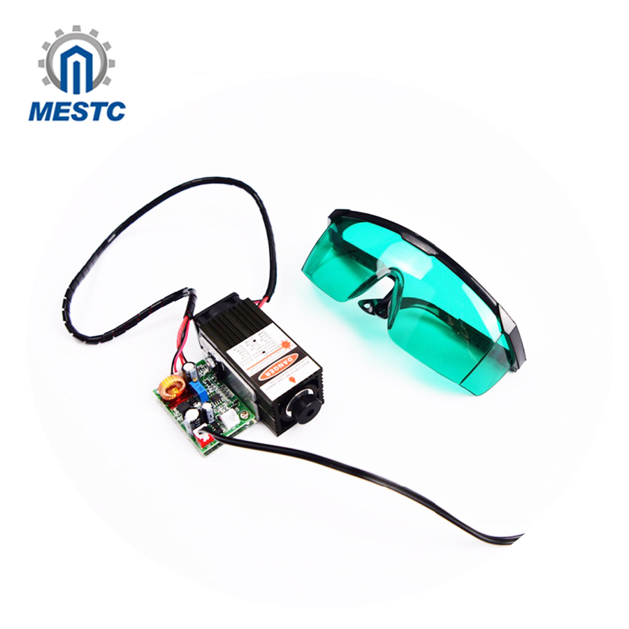 5.5w 450nm blue laser module , laser engraving machine parts , laser cutting TTL module 5500mw laser tube 5w laser module ttl mini laser engraving machine 445nm 450nm blue laser head with adapter free goggles