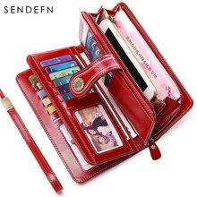 Sendefn женский кошелек длинный вместительный качественный элегантные