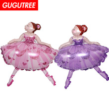 Decorate 77x99cm pink purple dance girls foil balloons wedding event christmas halloween festival birthday party HY-224
