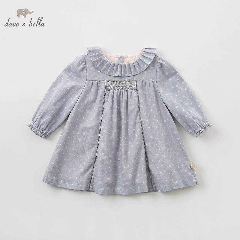 1641f611436c0 DB7496 dave bella baby girls dress Long sleeve spring dresses kids girls  dress children birthday party