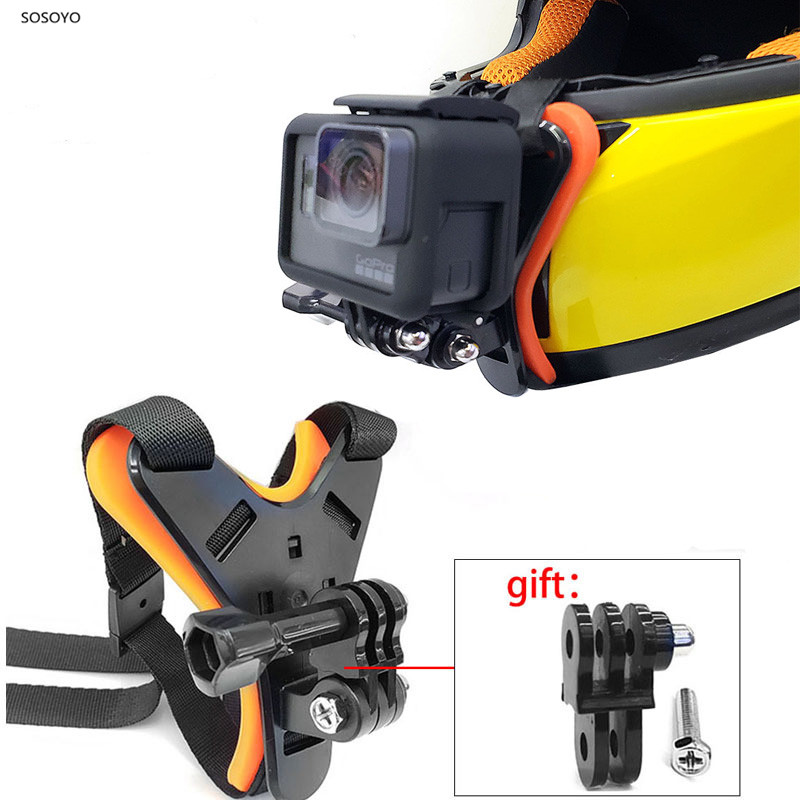 Motorcycle Helmet Chin Mount Holder Full Face Helmet Chin Stand For dji osmo For GoPro Hero 7 6 5 4 Xiaomi Yi 4k Action Camera  (3)