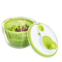 Household Multi use Manual Vegetables Dryer Basket Salad Spinner Fruits Dehydrator Washer Veggie Colander Storage Drying Machine