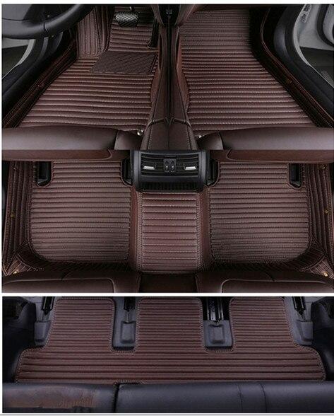 Tapis de haute qualité! Tapis de sol spéciaux faits sur commande de voiture pour BMW X7 G07 7 sièges 2019 tapis durables imperméables de voiture pour X7, livraison gratuite