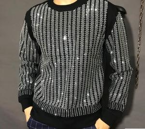 Image 1 - プルオーバー特大の男性秋冬 2019 トレーナーヒップホップダイヤモンドデザイン HJ98