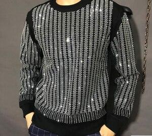 Image 1 - Pullover Oversized Men Autumn Winter 2019 Sweatshirt  Hip hop diamond design  HJ98