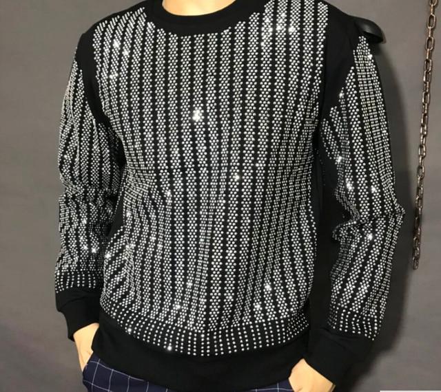 Pullover Oversized Men Autumn Winter 2019 Sweatshirt  Hip hop diamond design  HJ98