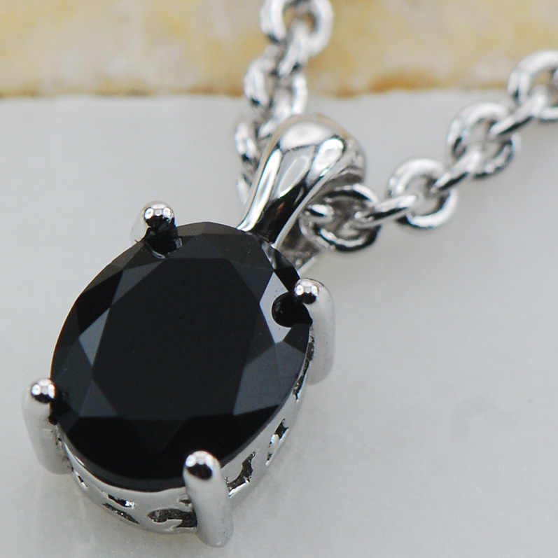 Black onyx   925 Sterling Silver  Stud Pendant  PP12 This item  Min order is $10