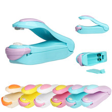 Buy Portable Bag Clips Handheld Mini Electric Heat Sealing Machine Impulse Sealer Seal Packing Plastic Bag work with battery directly from merchant!