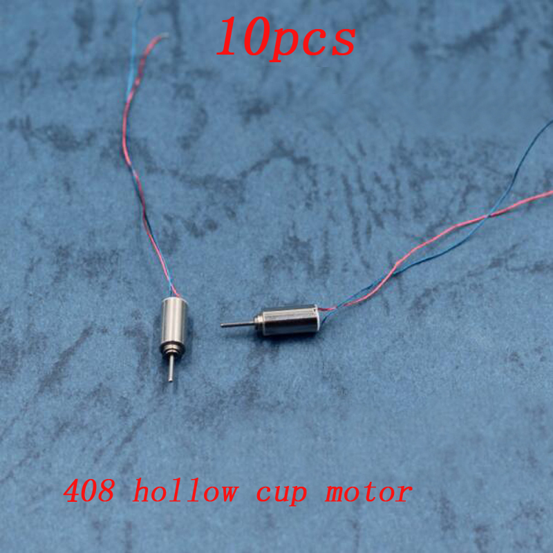 10pcs 408 Hollow Cup Motor 4x8mm Mini DIY Toys Motor DC 3.7V 35000RPM High-speed Motors for RC Aircraft Helicopter Accessories