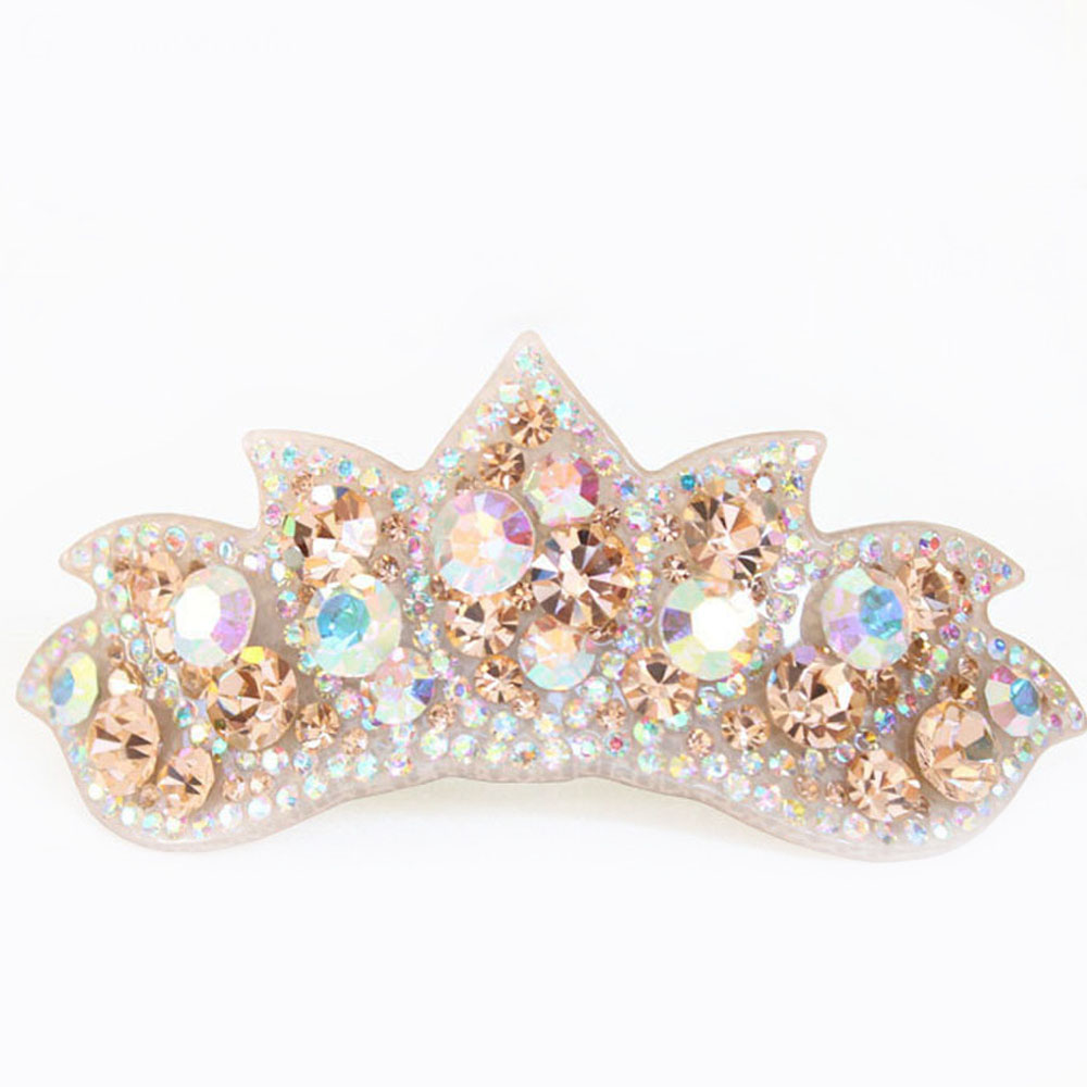 c4f63cf9d51 Luxury Hair Ornaments Cellulose Acetate Crown with Rhinestone Hair Clips  Retail for Ladies Hair accessories gifts Free Shipping