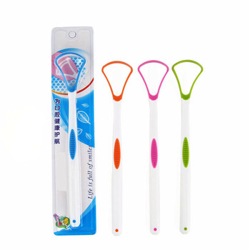 1 Pieces Quality Tongue Brush Plastic Tongue Cleaner Scraper Brand Cleaning Tongue Scraper For Oral Hygiene Keep Fresh Breath