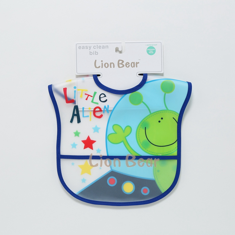 LionBear Baby Bibs Eva Waterproof Cute Cartoon Plastic Feeding Easy Clean Burp Cloths Infants 0-12 Months Saliva Print Apron