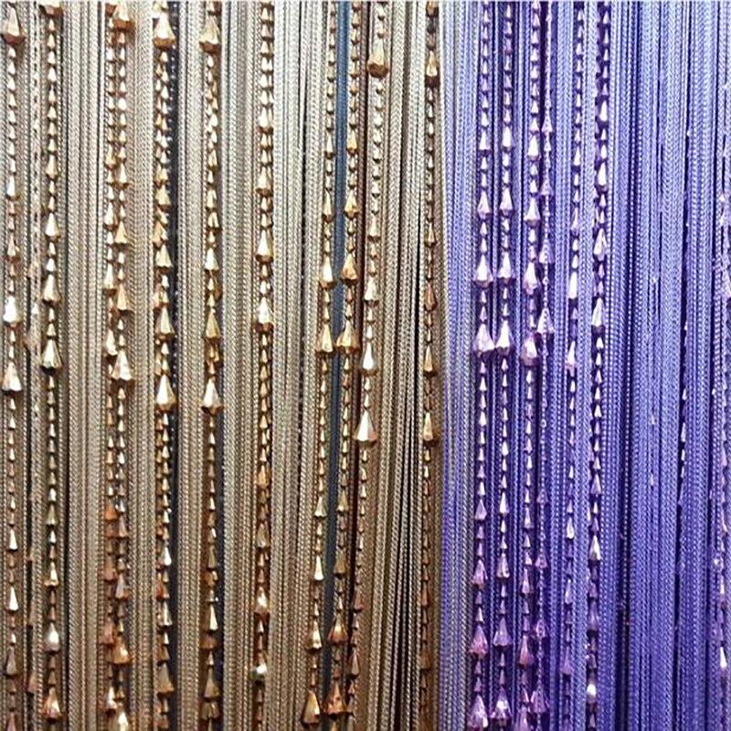 Door Windows Curtains for Living Room 300 x 280cm Divider Yarn String Curtain Strip Tassel Drape