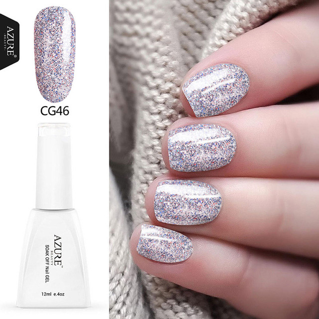 Azure Best Ing Professional Uv Nail Gel Polish 120 Colors Lacquer Glitter