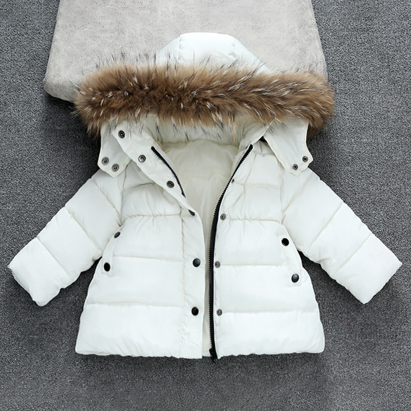 2018 New Children Jackets for Boys Girls Winter Down Cotton Jacket Girl Cotton Padded Fur Hooded Kids Jacket for Girls Clothes jupa 2018 girls winter jacket child girl down jackets coat cotton hooded infant jacket kids cotton jackets girls snow wear