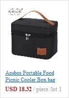 isolado viagem comida tote sacos comida piquenique lancheira saco para homens