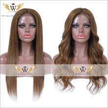 7A Brazilian Ombre Brown Body Wave Lace Front Wigs Glueless Two Tone Ombre Human Hair Full Lace Straight Wigs Fashion Ombre Wigs