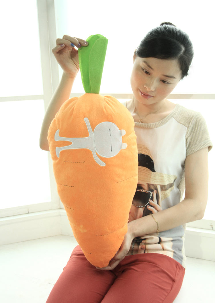 new cute plush carrot toy lovely carrot doll pillow gift about 70cm 0757