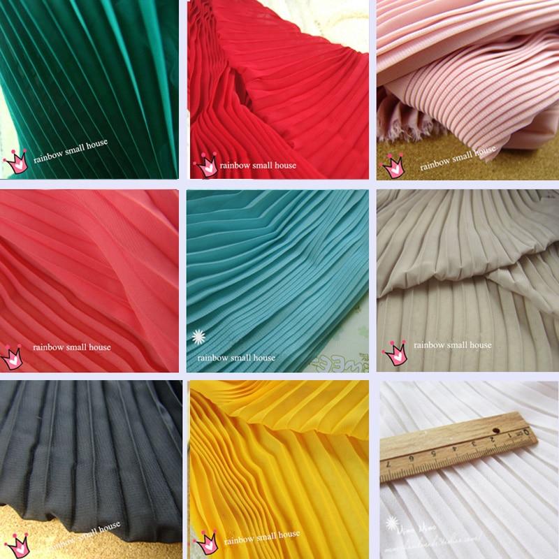 New crepe chiffon lace fabric crinkle 120D compound vertical pleated crumple lace chiffon dress fabric 150cm