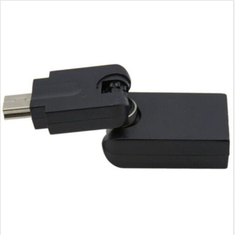 Freeshipping 50pcs /lot 360 degree rotation Mini 5 Pin USB Male To USB 2.0 A Female OTG Host Adapter