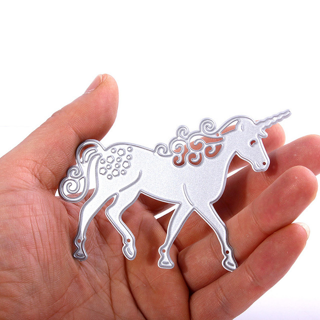 2018 New Style Metal Unicorn Cutting Dies DIY Birthday Card Mould Scrapbooking Paper Embossing Craft