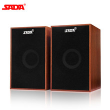 SADA V-160 USB Kabel Komputer Mini Speaker Bass Stereo Kayu PC Speaker Soundbar 3.5 Mm Aux Di Untuk Laptop Desktop ponsel Pintar(China)