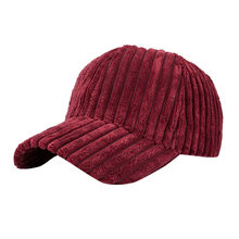 De las mujeres gorra de béisbol de la moda Unisex nuevas mujeres hombres  Corduroy Snapback Hip Hop sombrero plano Snapback ajust. 9e8249b7235