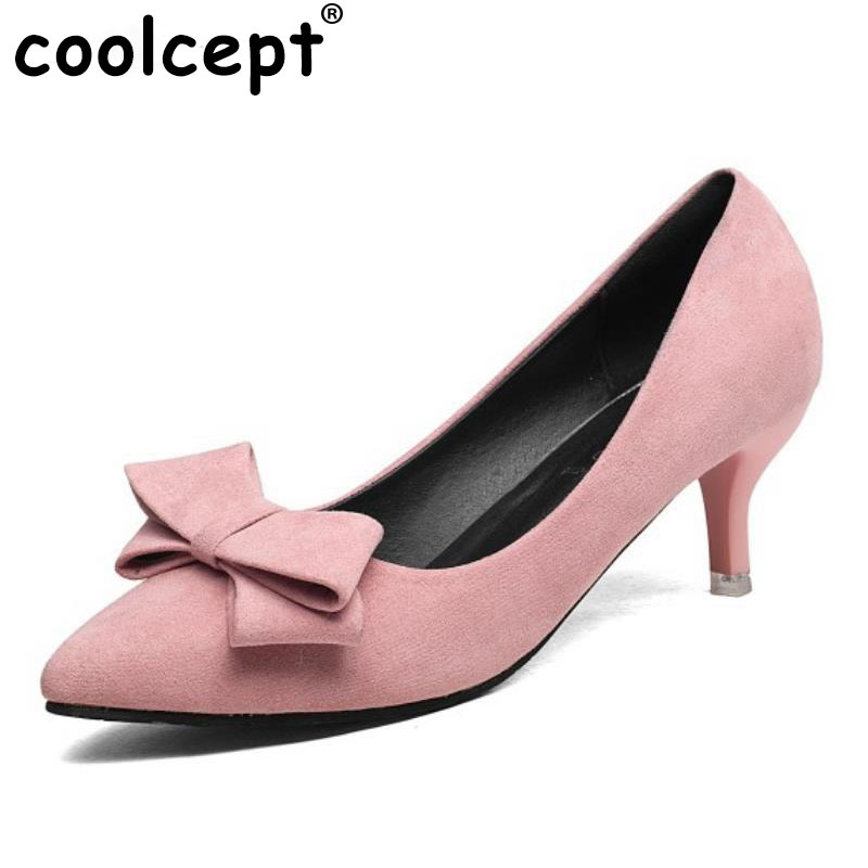 New Spring Fashion Women High Heeled Shoes Womoen Sexy Party OL Vintage Heeled Office Retro Bowtie Shoes Sexy Pumps Size 34-39 2016 spring new fashion women hot sale nightclub sexy fine with platform high heeled shoes ol shoes baok 8e36