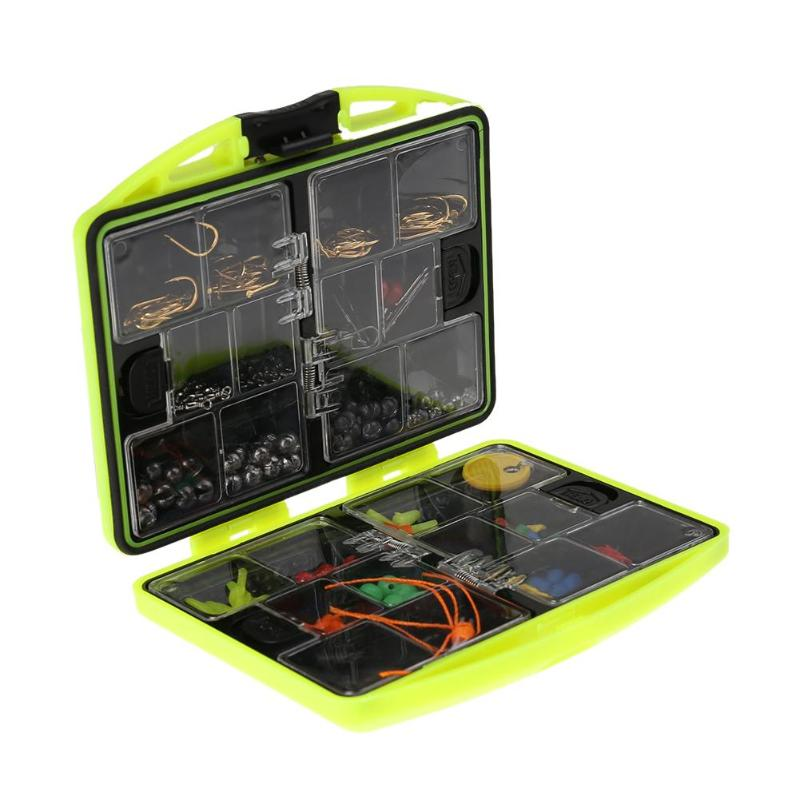 24 kinds Multifunctional fishing tackle box with hooks Rock Accessories for Sea Rock Fishing Casting Swivel Jig Hooks fish Tool