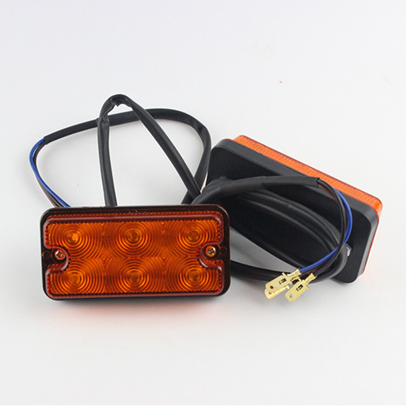 1Pair Yellow Turn Signal Lights 12V Forklift 6LED Side Marker Lights Signal Light Clearance Lamp in Signal Lamp from Automobiles Motorcycles