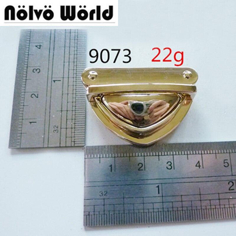 Big tongue lock light gold factory metal bags push lock handmade metal accessories press locks buckle by screws fixed 2pcs tongue