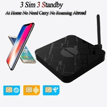 4G WiFi Hotspot Router 3SIM Extend Box and No Roaming Abroad for Android for iPhone all iOS7-12 English APP Not Carry for Huawei simadd pro 3sim 3 standby box 3sim activate onlin ishere sim add for i phone 6 7 8 x sim at home no need carry no roaming