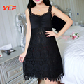 Lace Floral Nighty Sexy Sleepwear with Lace Robe Women Nightgown