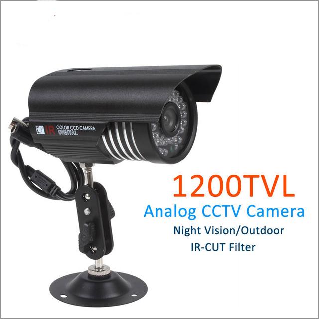 """Câmera de segurança cctv com 1/3 """"sony cmos 1200tvl 36 led ir de visão noturna câmera de vigilância em casa câmera de vídeo ao ar livre"""
