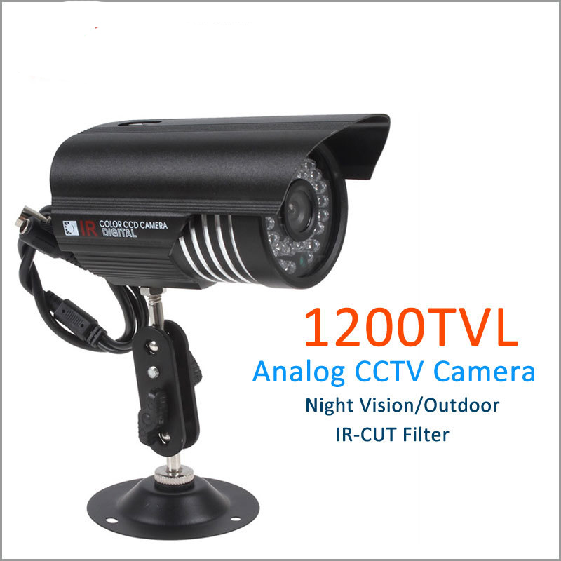 CCTV Security Camera With 1/3 SONY CMOS 1200TVL 36 LED IR Night Vision Surveillance Camera Home Outdoor Video Camera 1 3 sony cmos 1200tvl cctv security camera metal ip66 24 led color ir night vision surveillance home outdoor video camera