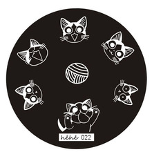 DIY Nail Art Image Stamp Stamping Plates Manicure Heart Hhape Template     6616